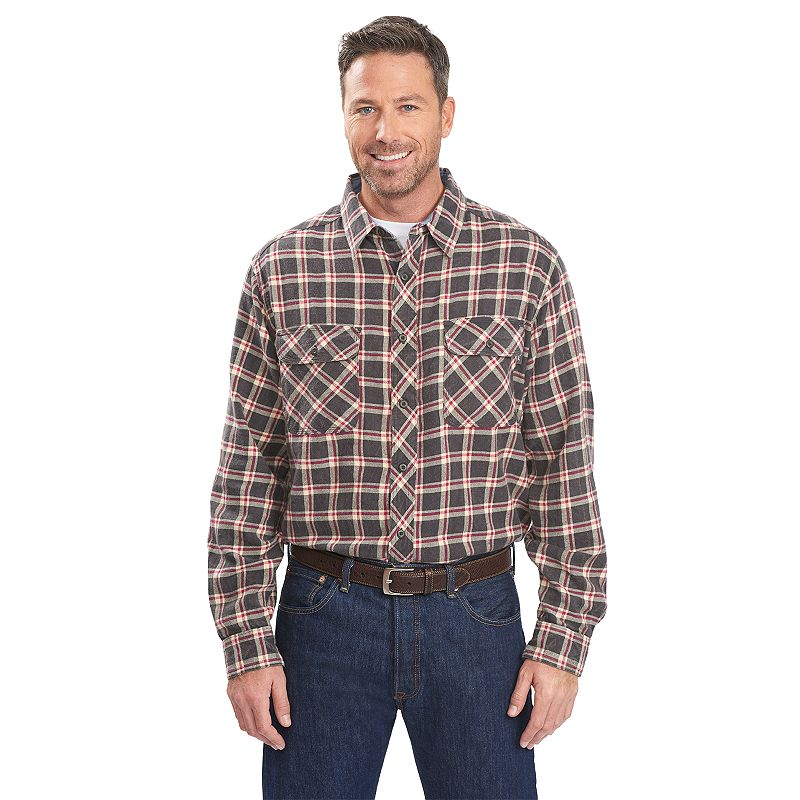 Men's Woolrich Miners Plaid Flannel Button-Down Shirt