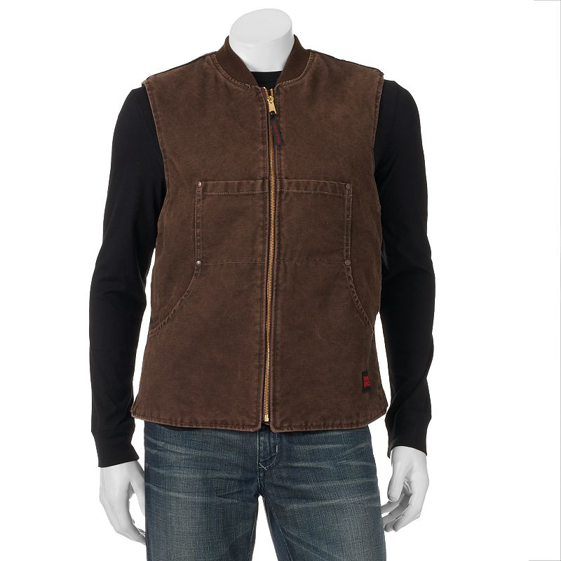 Men's Tough Duck Washed Quilted Vest