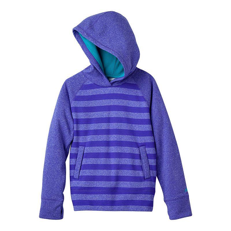 New Balance Striped Fleece Hoodie - Girls 4-6x