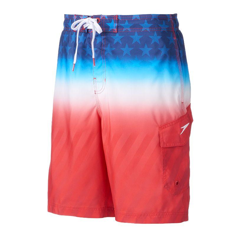 Men's Speedo Faded Flag E-Board Shorts