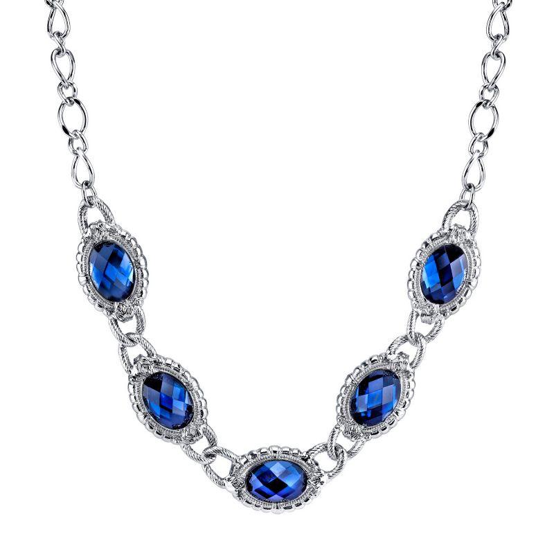 1928 oval necklace