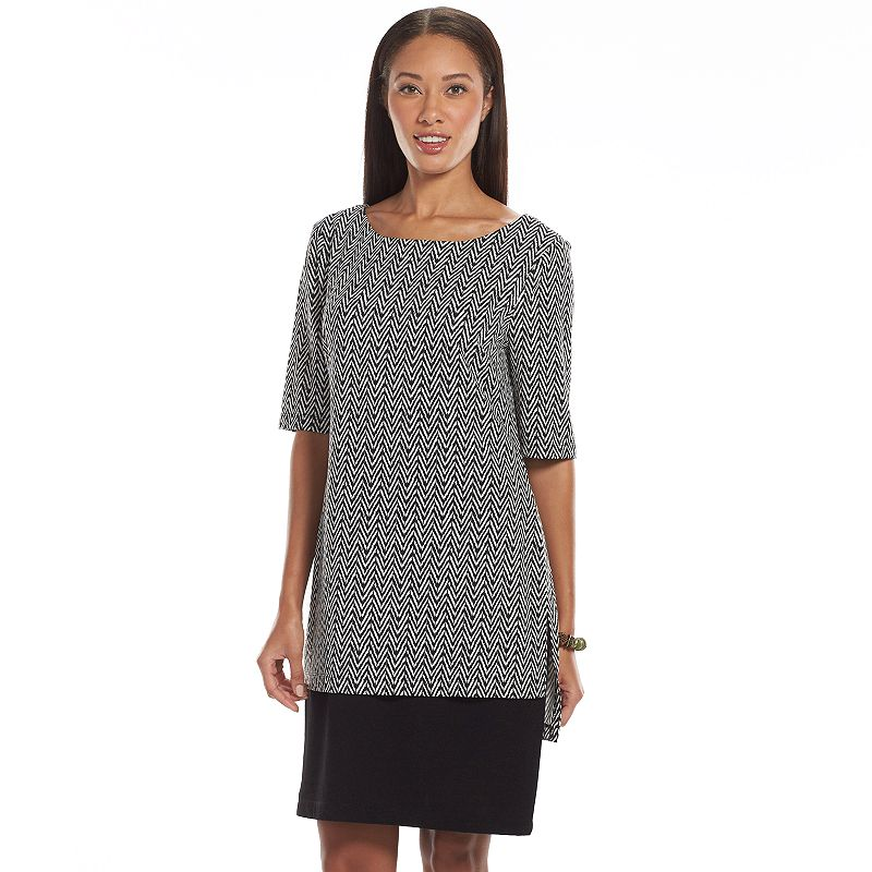 Connected Apparel Herringbone Tunic Dress - Women's