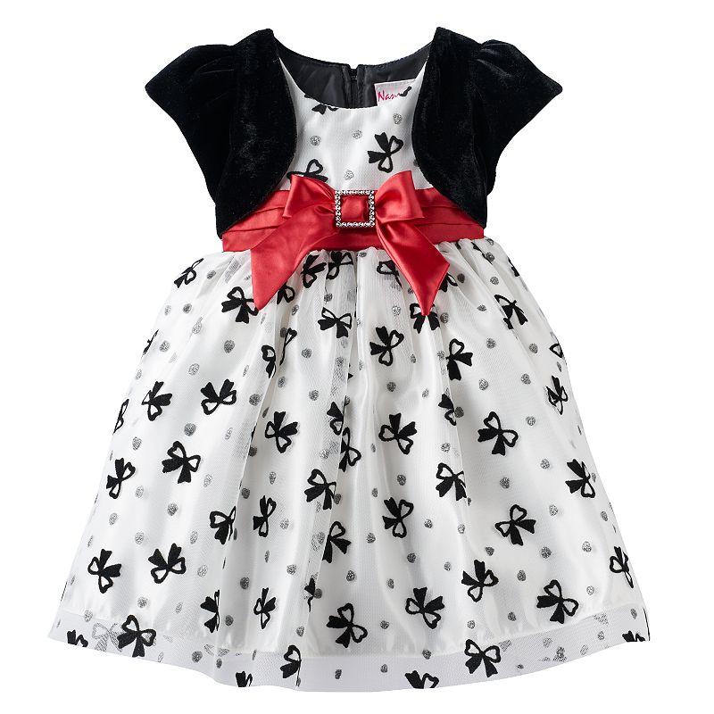 Nannette Bow Dress - Baby Girl