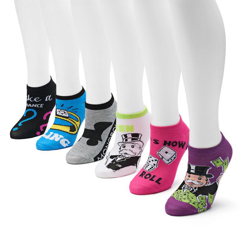 Monopoly 6-pk. No-Show Socks - Women