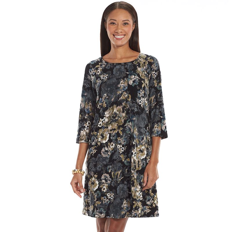 Connected Apparel Floral Shift Dress - Women's