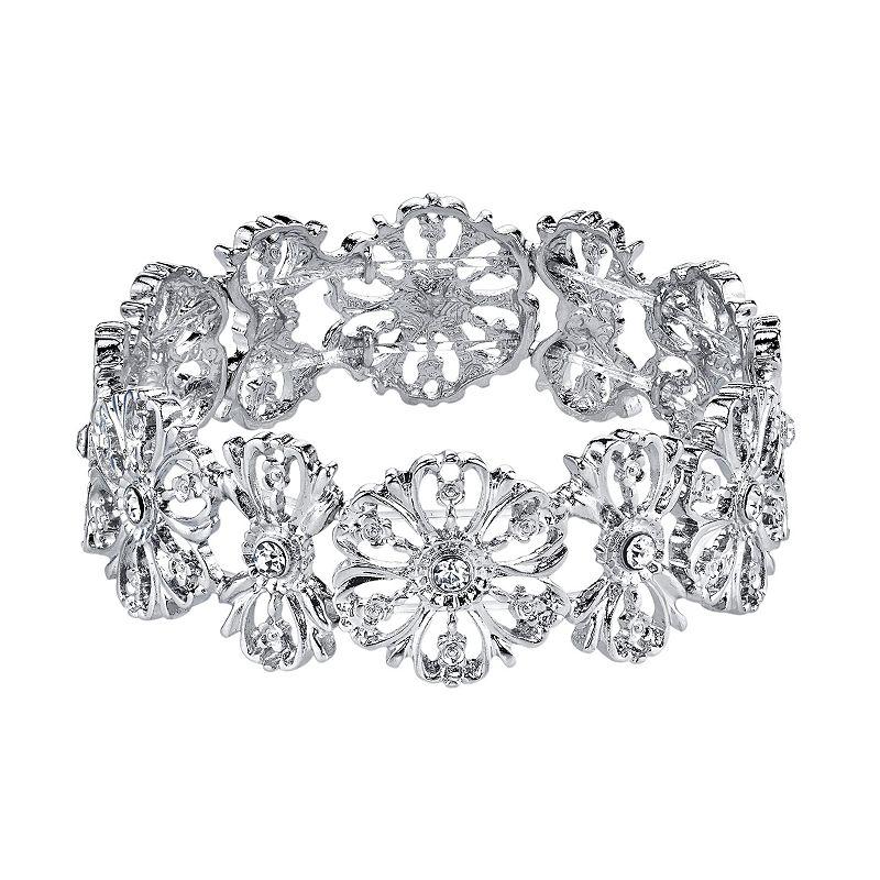 1928 Flower Stretch Bracelet