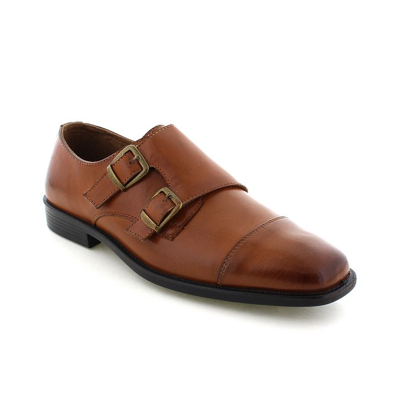 Deer Stags Colin Men's Twin Buckle Monk Dress Shoes