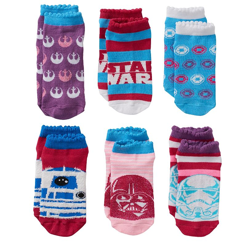 Star Wars 6-pk. Low-Cut Ruffle Socks - Girls 4-8