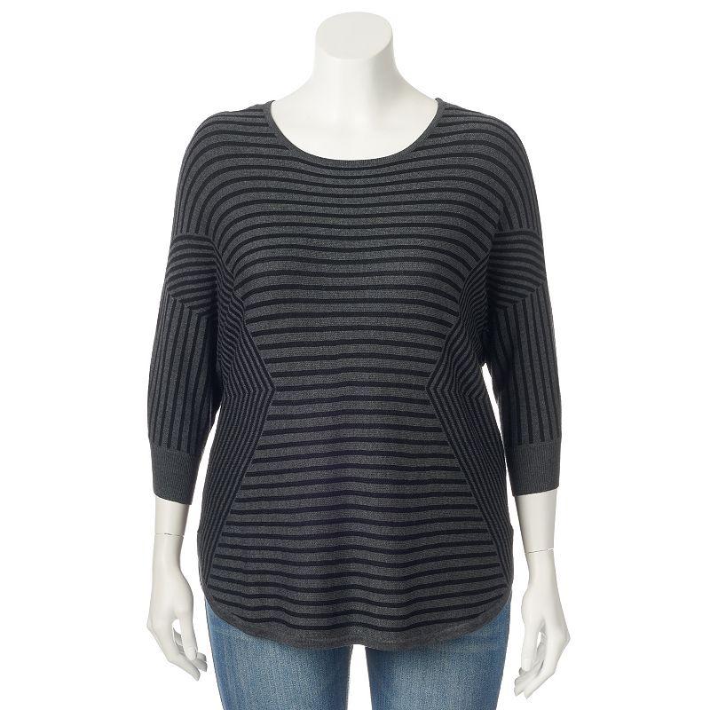 Plus Size Dana Buchman Dolman Boatneck Sweater
