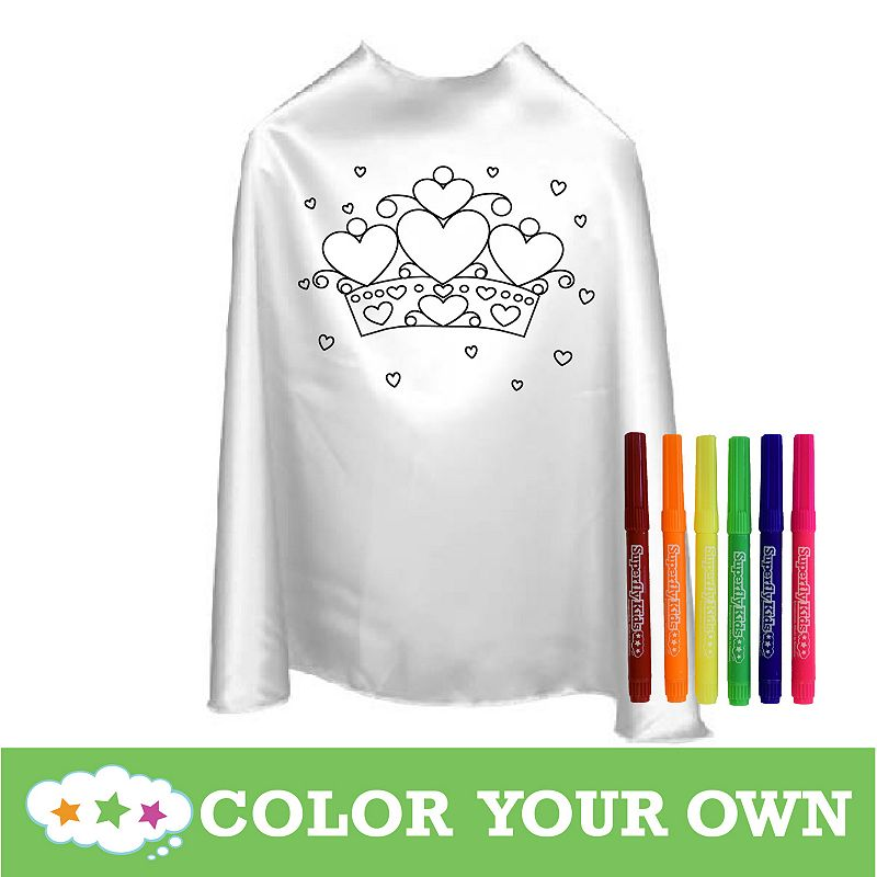 Superfly Kids Color Your Own Heart Cape