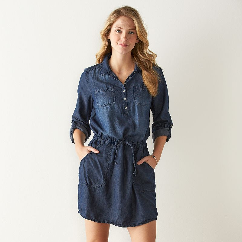 Women's SONOMA Goods for Life™ Chambray Shirtdress
