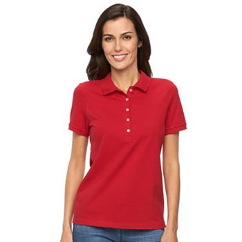 Croft & Barrow Classic Solid Womens Polo