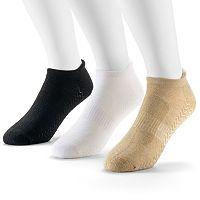 Men's Wilson Golf 3-pack Performance Massaging Sole No-Show Socks
