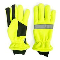 Men's QuietWear Green Waterproof Fleece Gloves