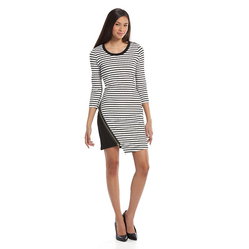 Almost Famous Juniors' Striped Asymmetrical Dress