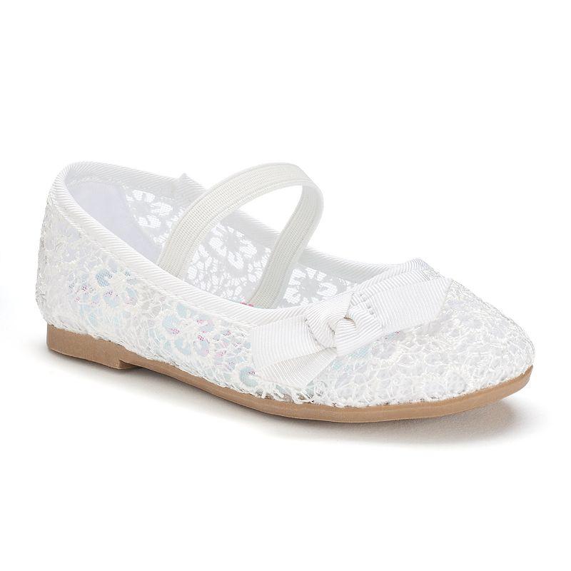 Jumping Beans® Toddler Girls' Crochet Mary Jane Shoes