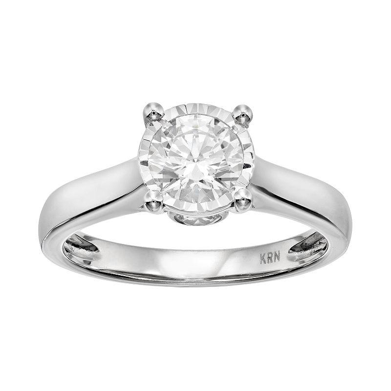 Diamond Engagement Ring in 14k White Gold (1 Carat T.W.)