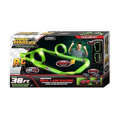 Max Traxxx 36-ft. Tracer Racer Glow-In-The-Dark Remote Control Dual Lane Loop Set by