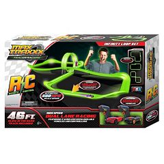 Max Traxxx�46-ft. Tracer Racer Glow-In-The-Dark Remote Control Infinity Loop Race Set by