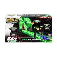 Max Traxxx Tracer Racer Glow-In-The-Dark 24-ft Ultimate Duel Loop Race Set