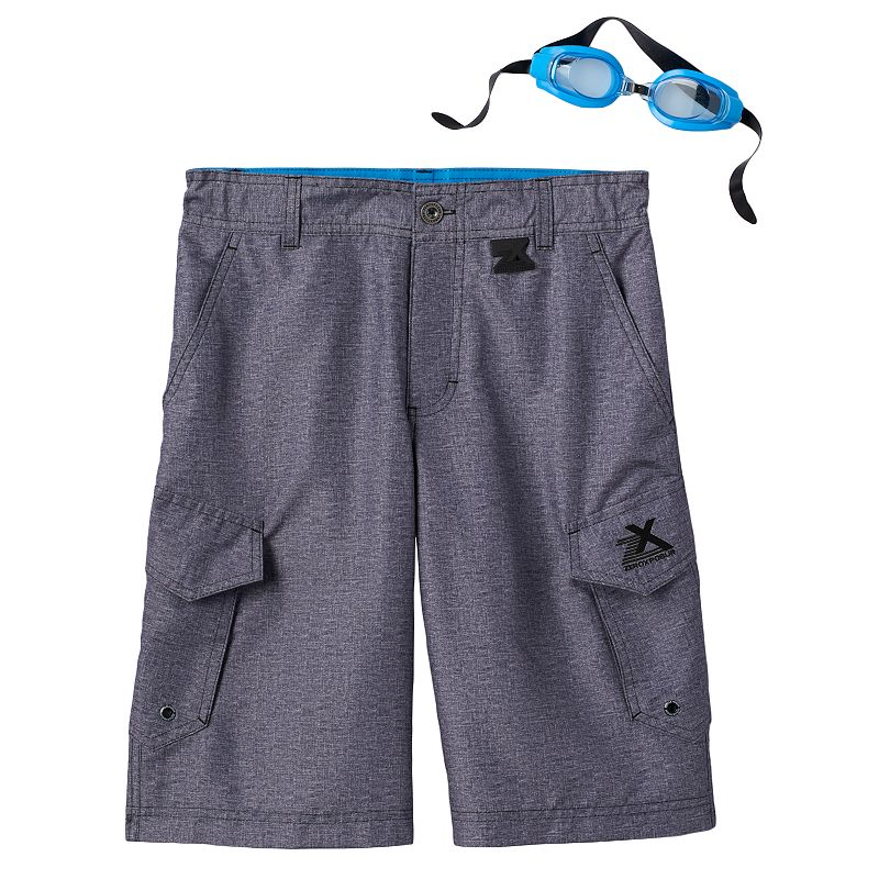 Boys 8-20 ZeroXposur Beach 2 Street Dyed Board Shorts with Goggles