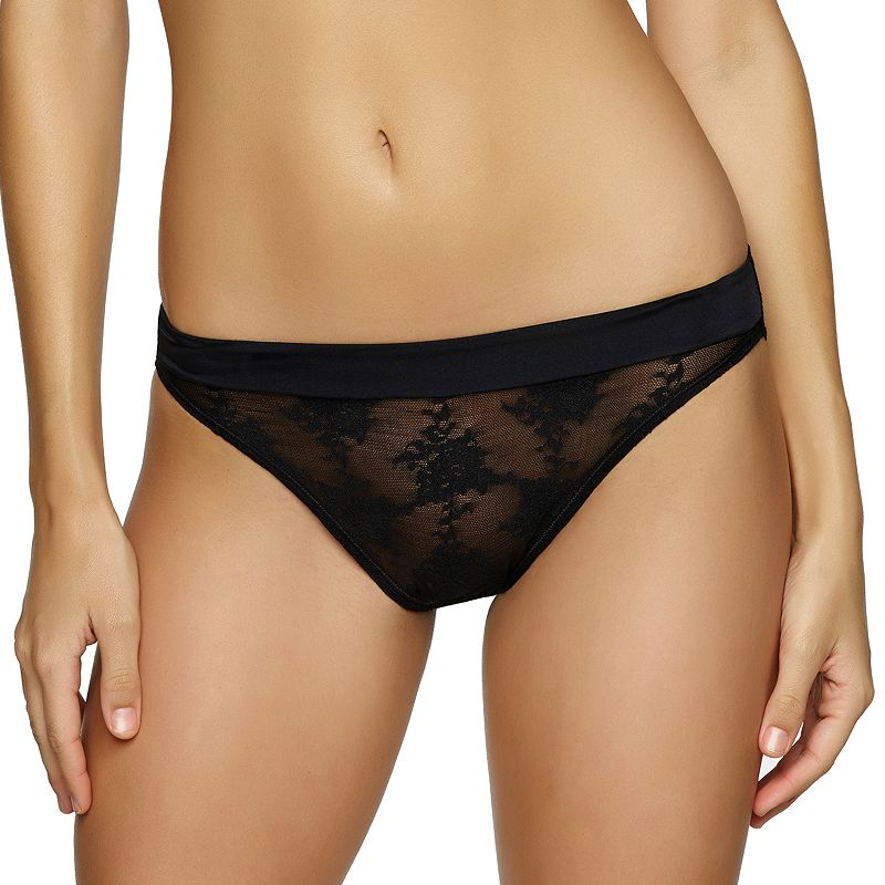 Paramour by Felina Parisienne Sheer Lace Hi-Cut Panty 630695