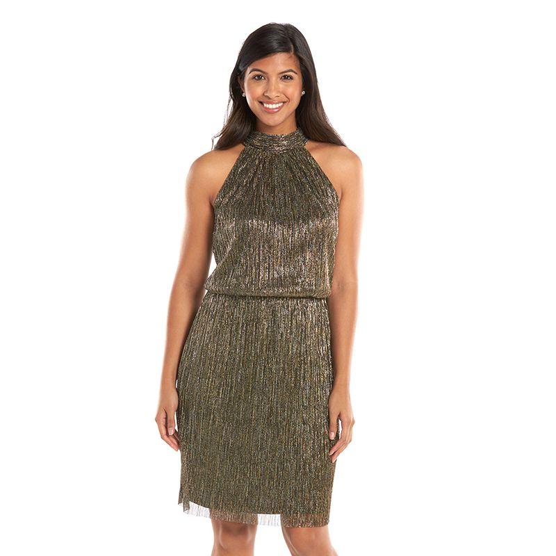 Petite Suite 7 Blouson Halter Dress
