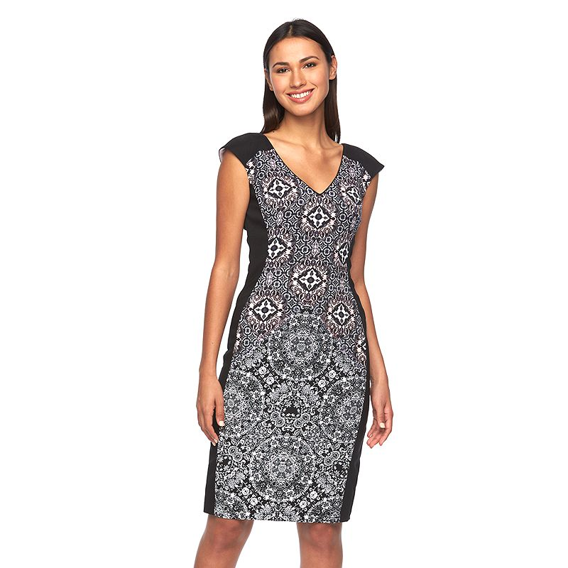 Petite Suite 7 Geometric Sheath Dress