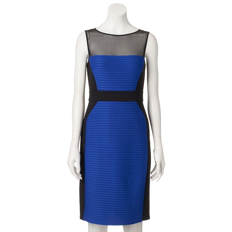 Petite Suite 7 Colorblock Sheath Dress