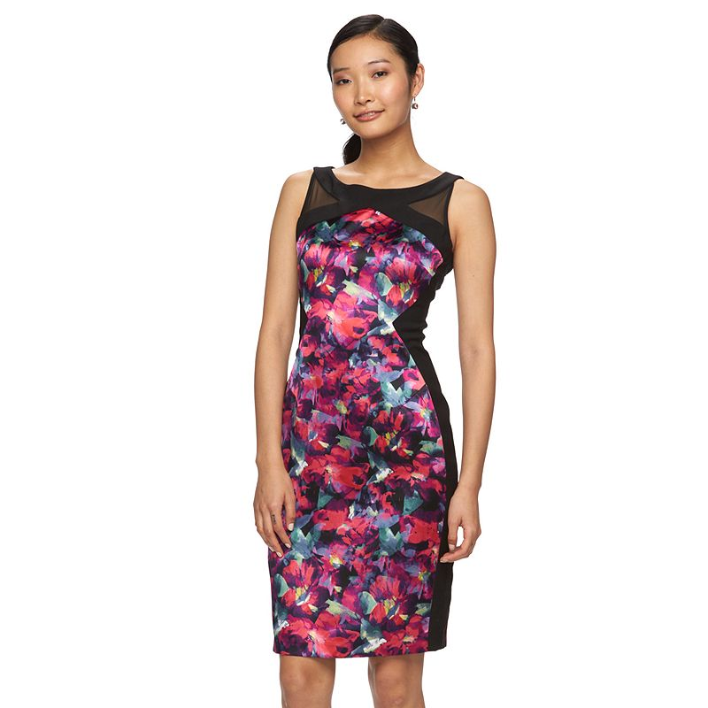 Petite Suite 7 Floral Sheath Dress