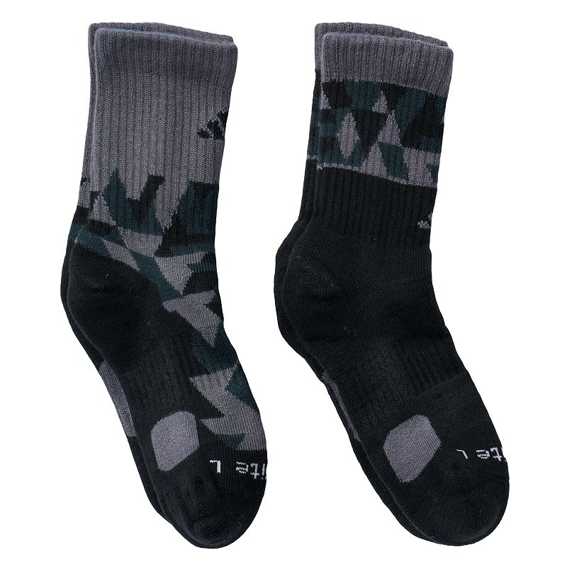 Boys 8-20 adidas 2-Pack ClimaLite Camouflage Crew Socks