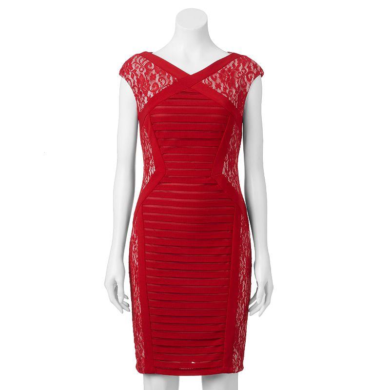 Women's Jax Lace Colorblock Sheath Dress