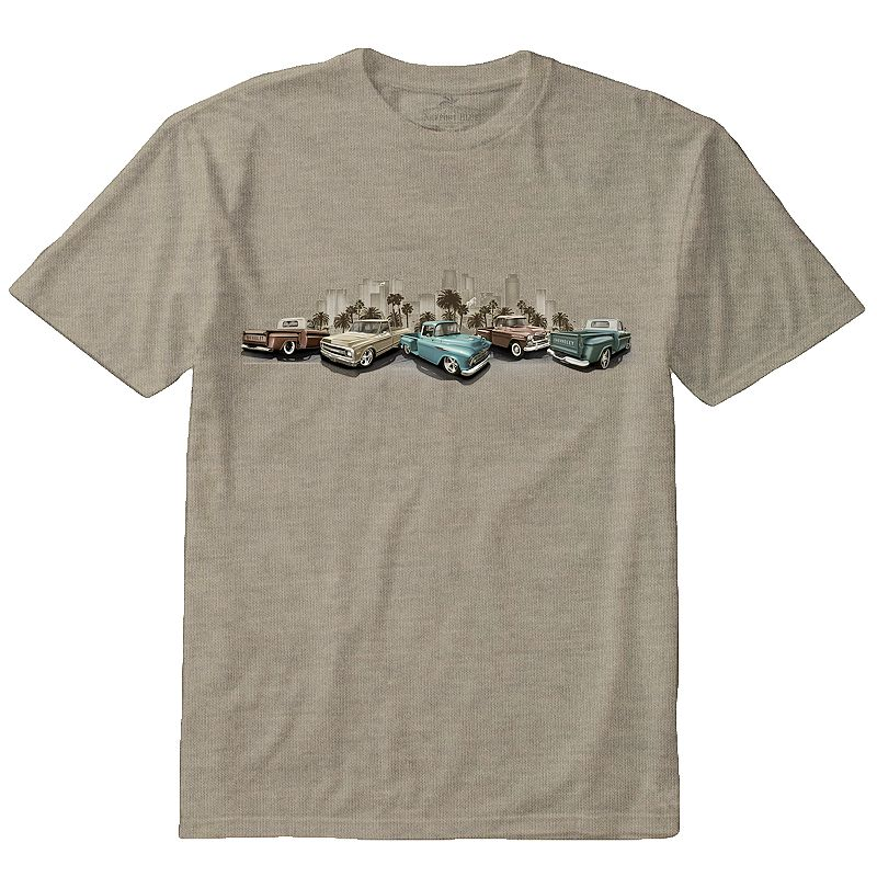 Men's Newport Blue Chevy Truck Cityscape Tee