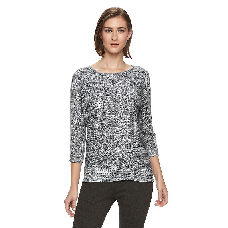 Women's AB Studio Marled Crewneck Sweater