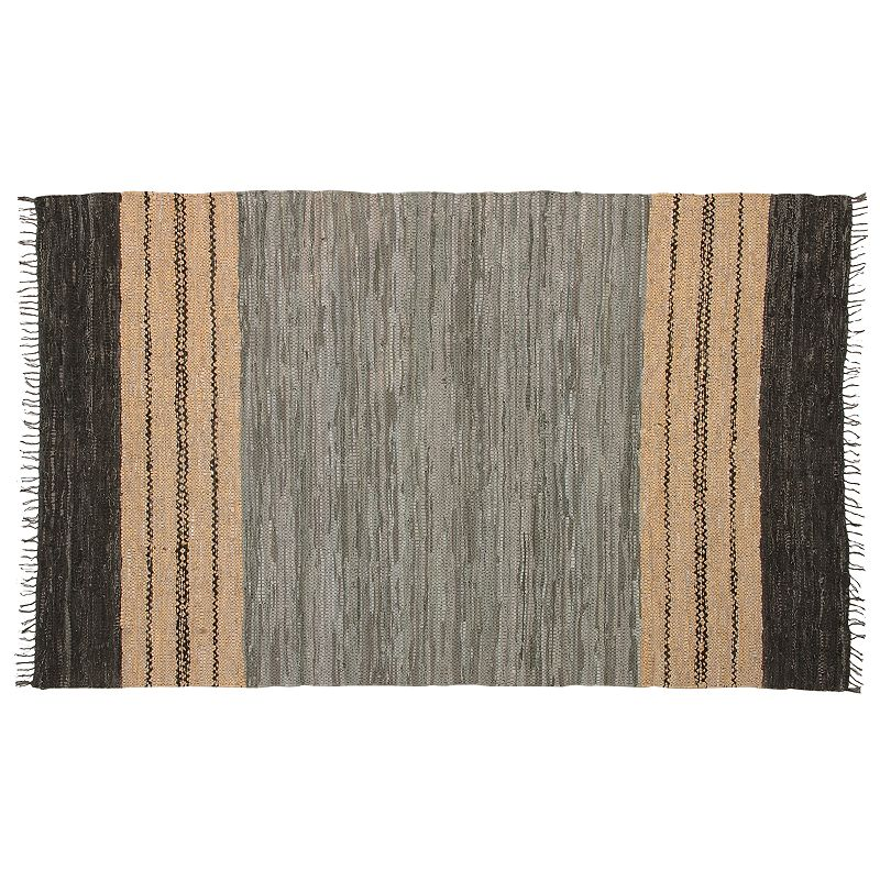 St. Croix Matador Reversible Braided Leather Rug