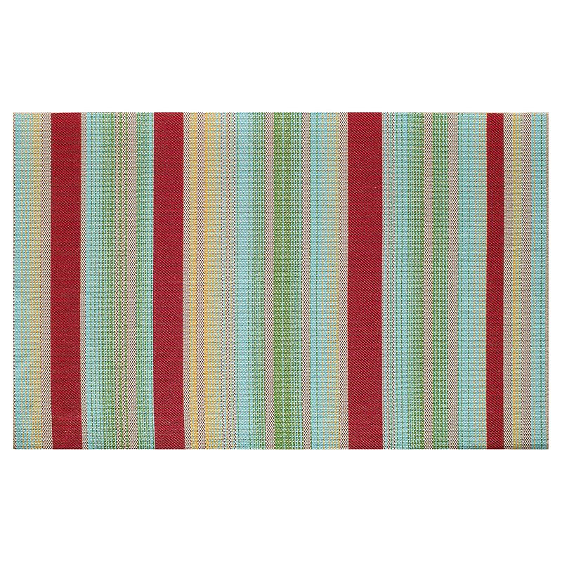 SONOMA Goods for Life™ Multi Stripe Indoor Outdoor Rug