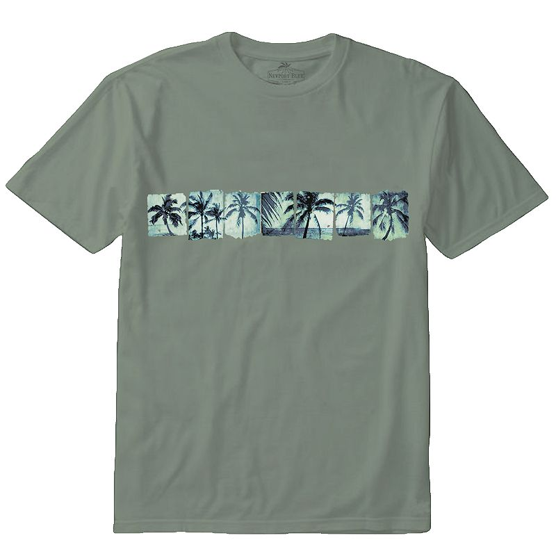 Men's Newport Blue Island Palm Tree Band Tee