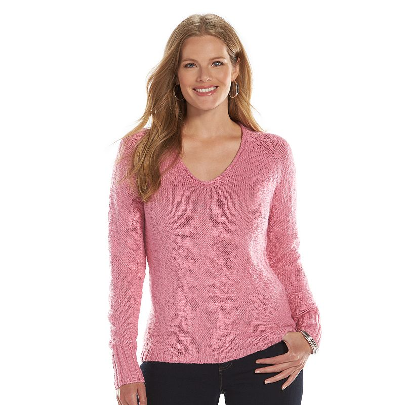 Plus Size Chaps Marled Sweater