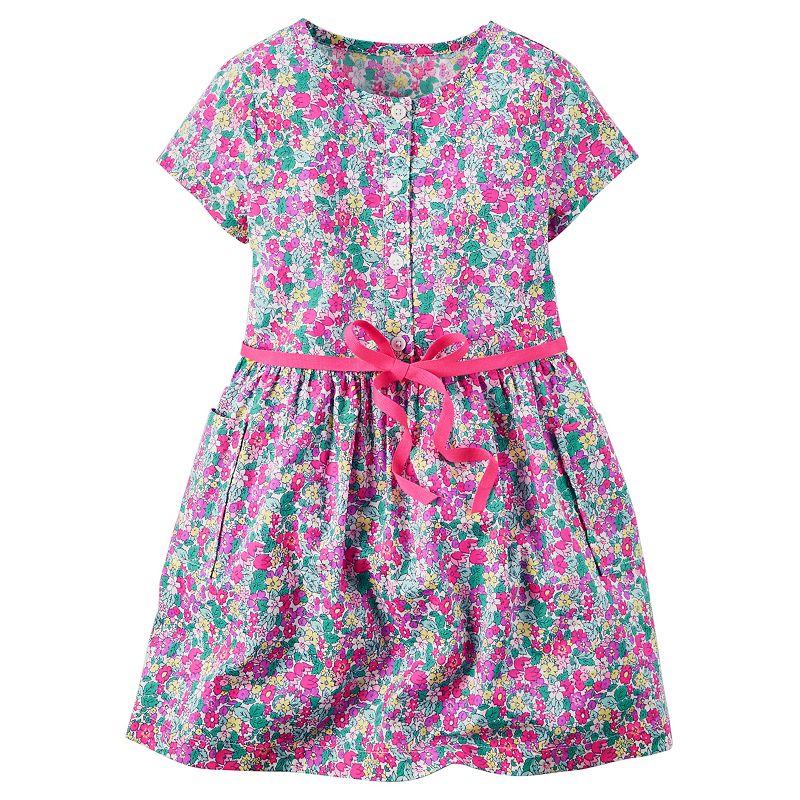 Girls 4-8 Carter's Woven Floral Dress