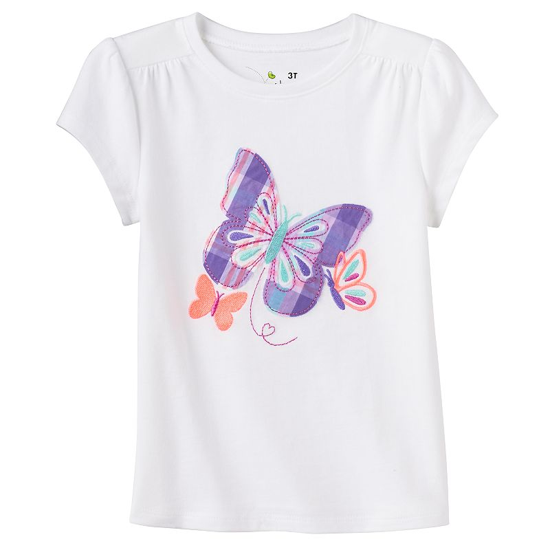 Toddler Girl Jumping Beans® Plaid Applique Tee