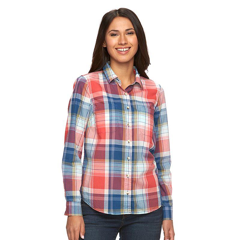 Women's SONOMA Goods for Life™ Plaid Shirt