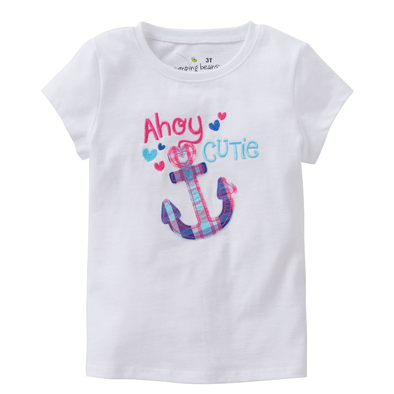 Jumping Beans® Toddler Girl Embroidered Applique Tee