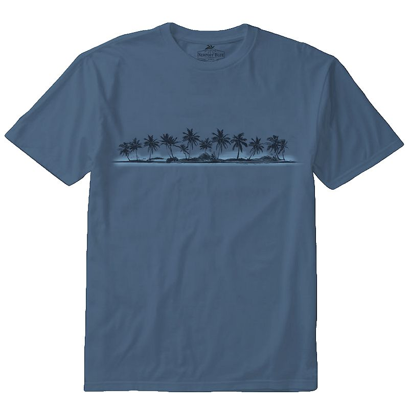 Men's Newport Blue La Paz Palm Tree Tee