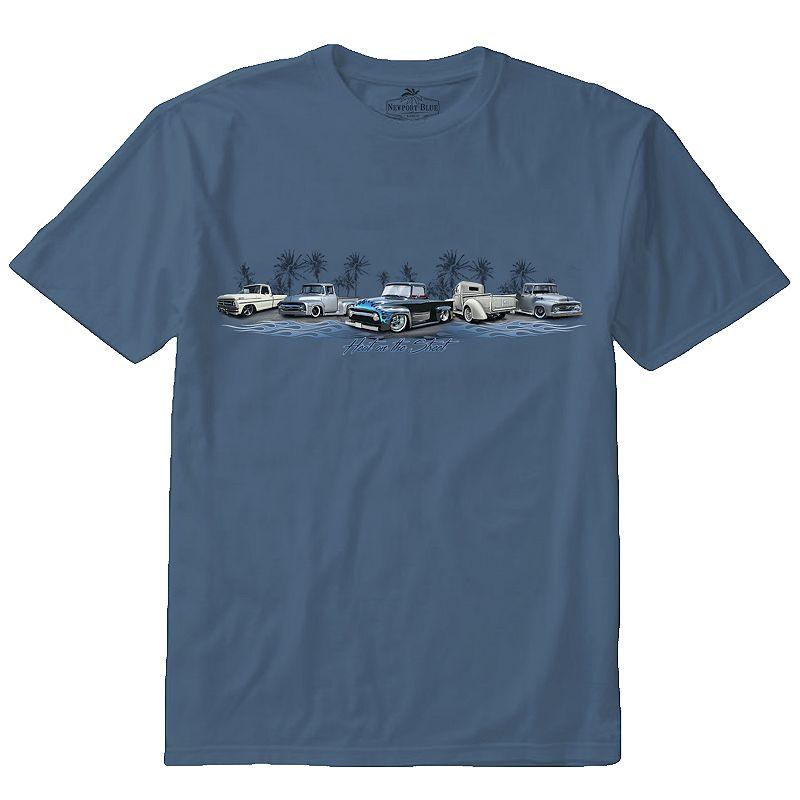 Men's Newport Blue Truck Lineup Tee