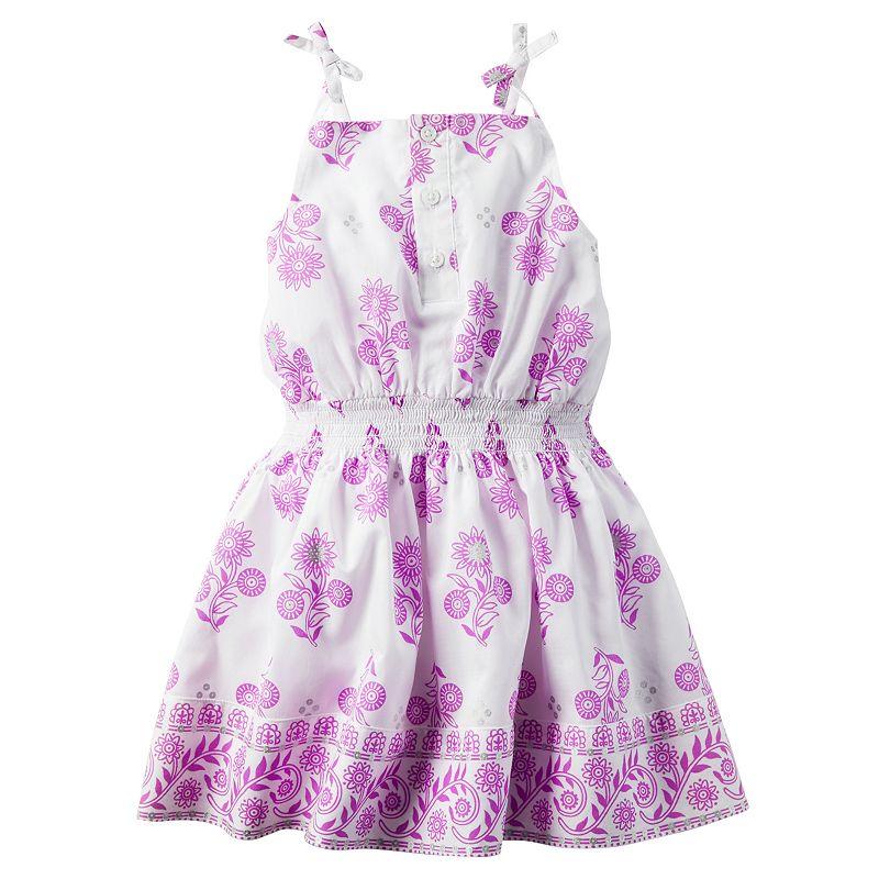 Girls 4-8 Carter's Foil Floral Woven Dress