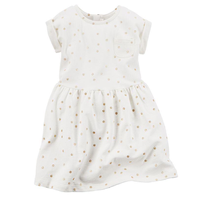 Girls 4-8 Carter's Glitter Polka-Dot Dress