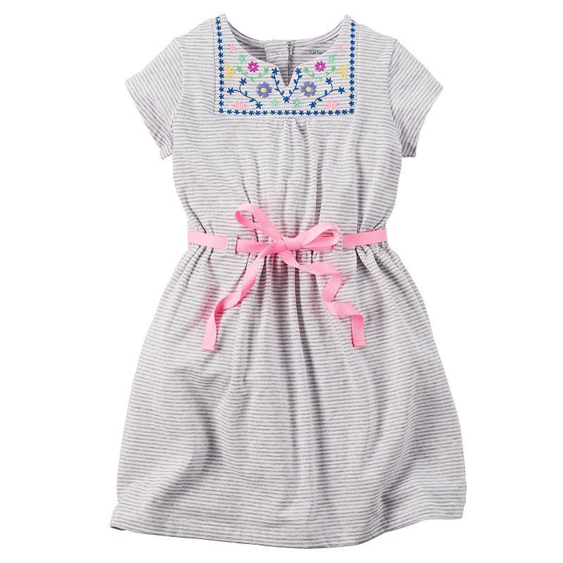 Girls 4-8 Carter's Embroidered Dress
