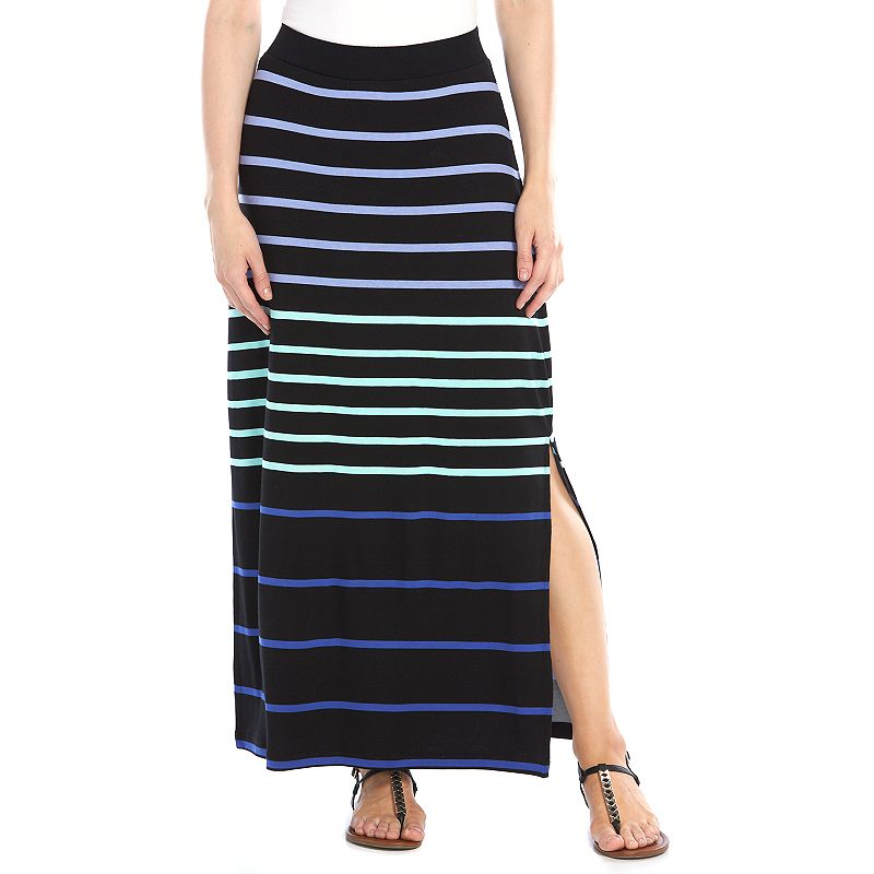 Petite Apt. 9® Striped Maxi Skirt