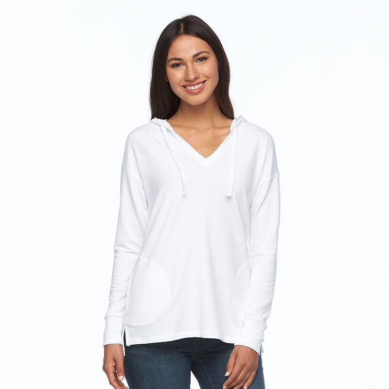 Women's SONOMA Goods for Life™ V-Neck French Terry Hoodie