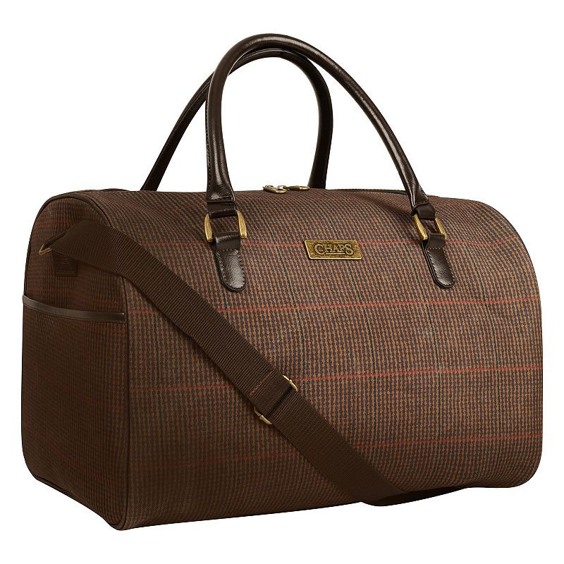 Chaps Donegal Plaid Duffel Bag
